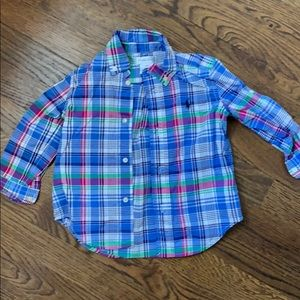 Boys sz 18 mo Ralph Lauren Plaid Button Down Shirt